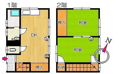 平和アパート 2号室 間取り