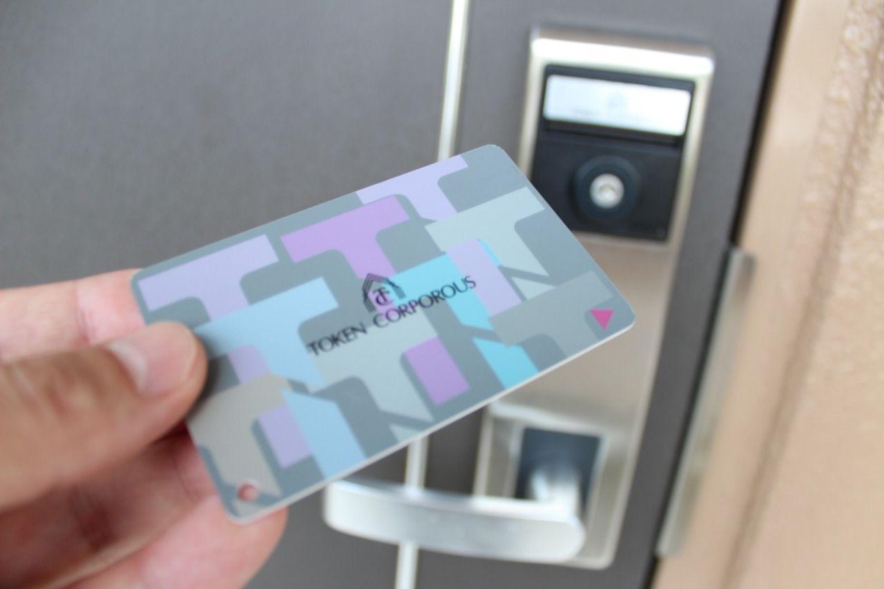 お財布に収納可能で持ち運び可能なカードキー。便利なだけじゃなく、防犯にも優れています!