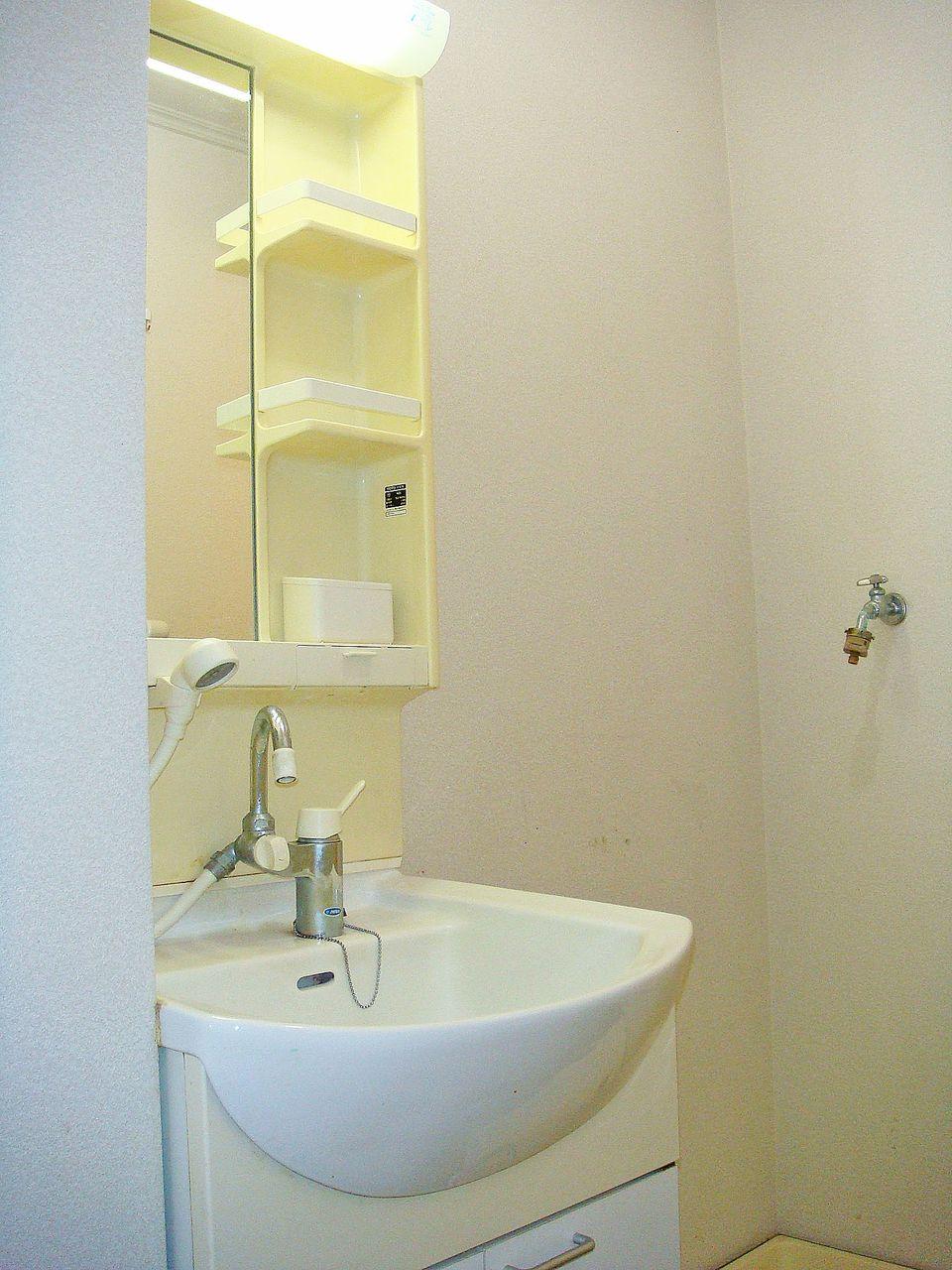 シャワー付きのシャワー洗面台です。寝癖直しや、ボウルのお掃除がラクにできちゃいます(*^^*)