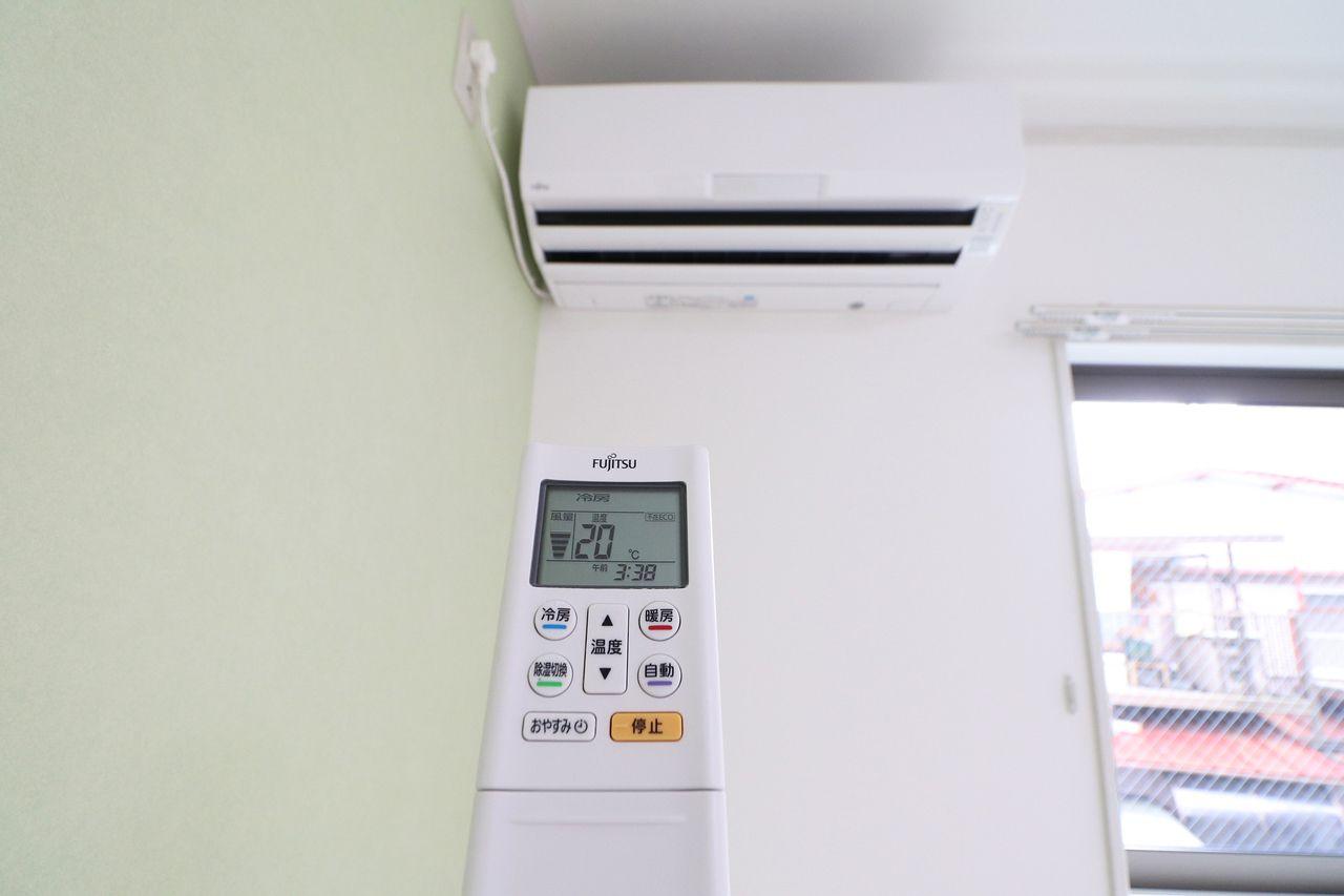 各居室にエアコンが付いています。どこに居ても快適に過ごすことができますね。