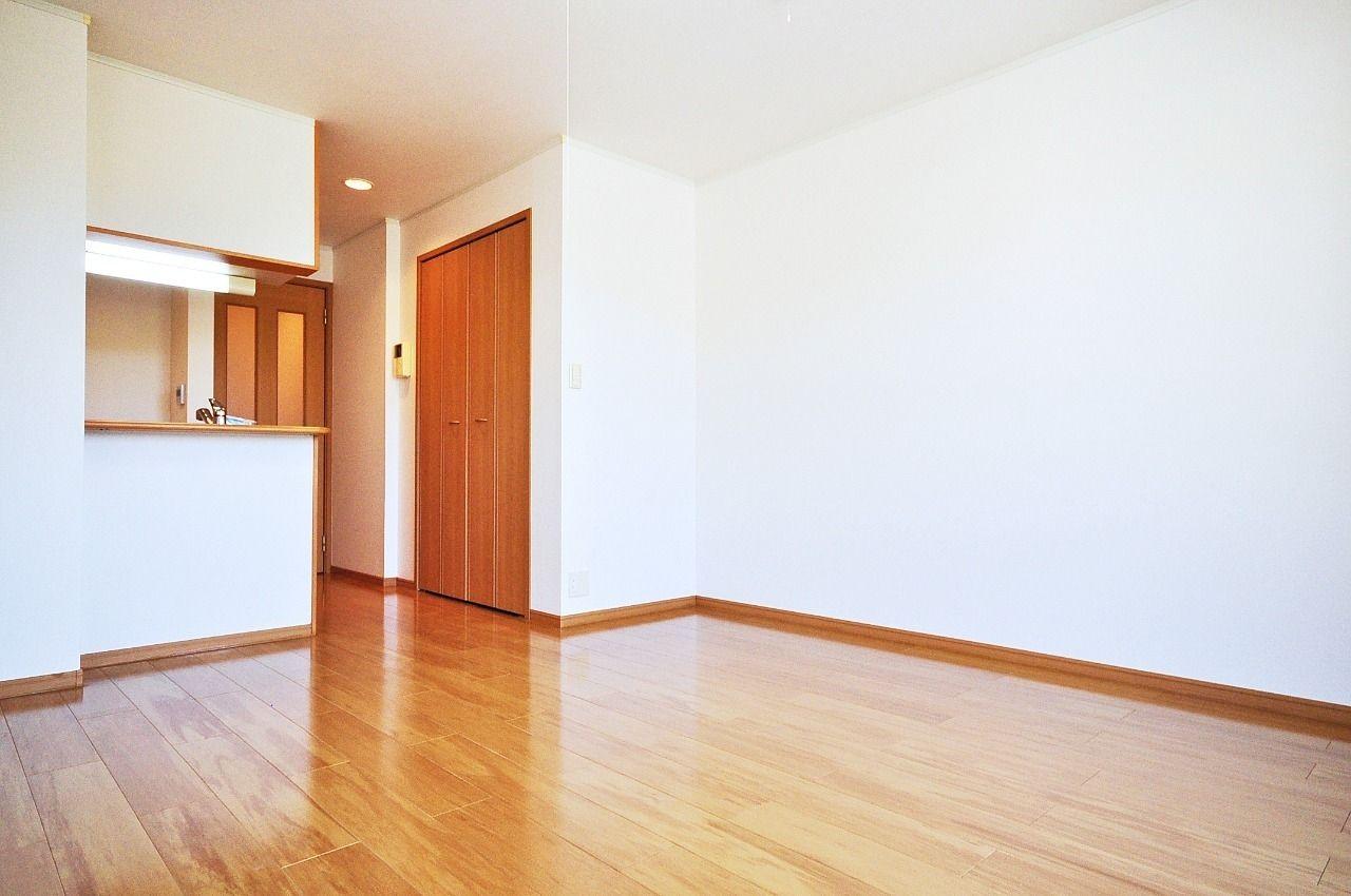 12.3畳の大きなワンルーム。ベッドとテレビを置いたら何も置けない!というワンルームがありますが、ここなら大丈夫!