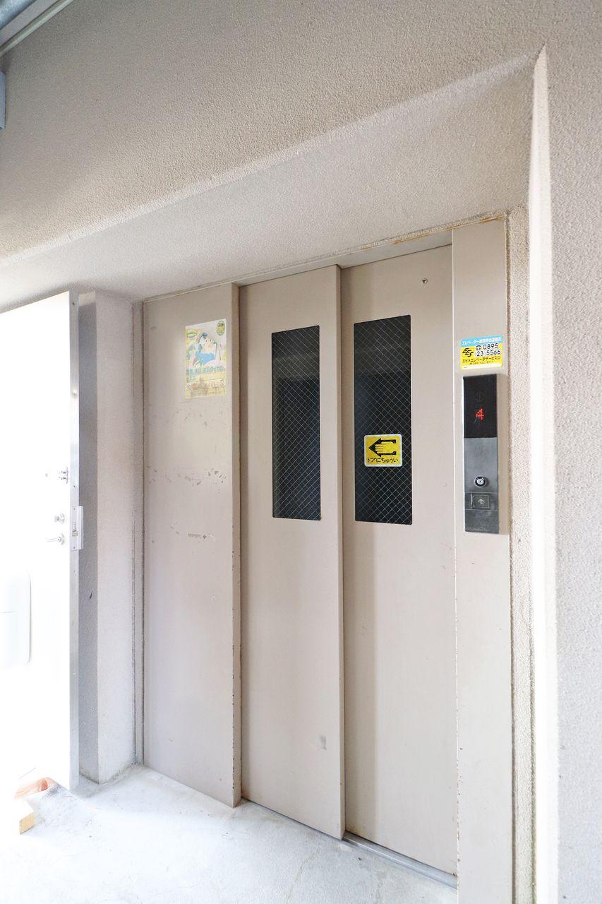 エレベーター付きなので、お買いもの帰りで荷物が多い日も安心ですね。
