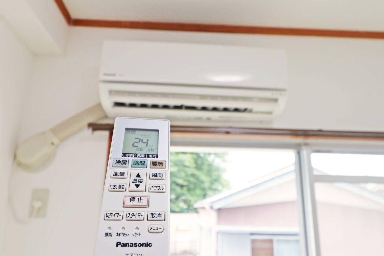 南側和室2部屋にエアコンを完備!これがあれば夏の暑い日も涼しく過ごせますね。