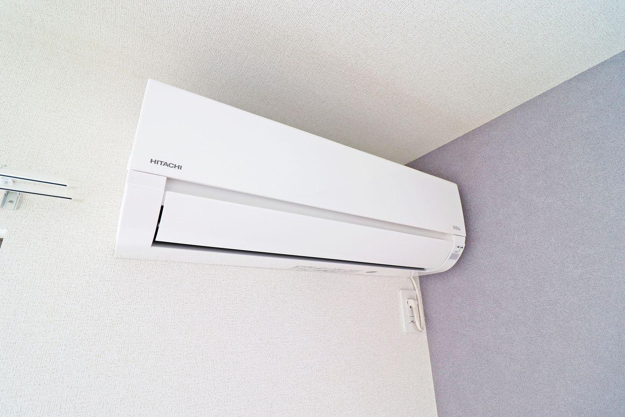 LDKと北側洋室にはエアコンが設備として設置されています。入居に合わせて揃えるものが減るのは嬉しいですよね。