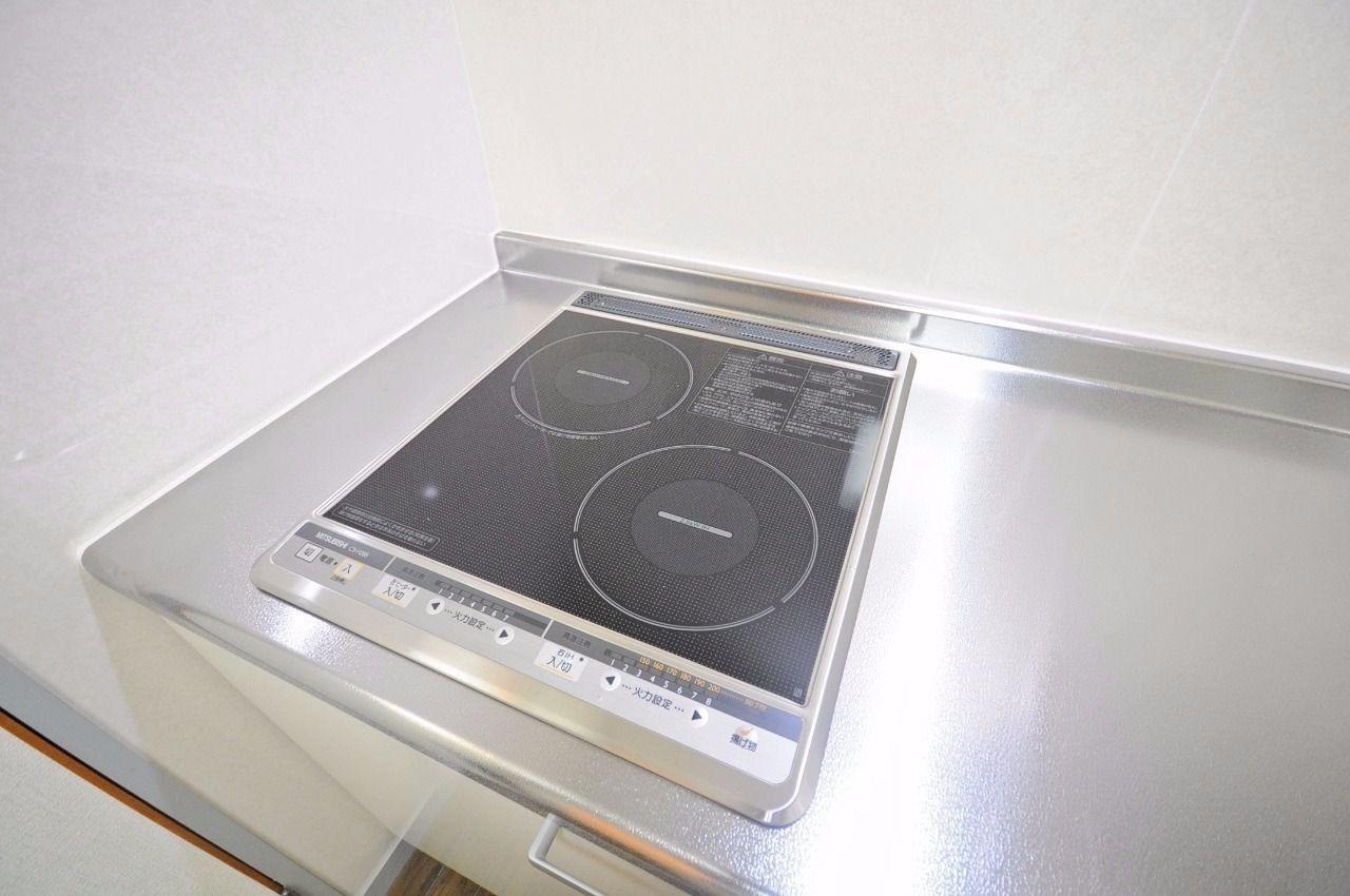 オール電化マンションで、IHクッキングヒーターが付いています。