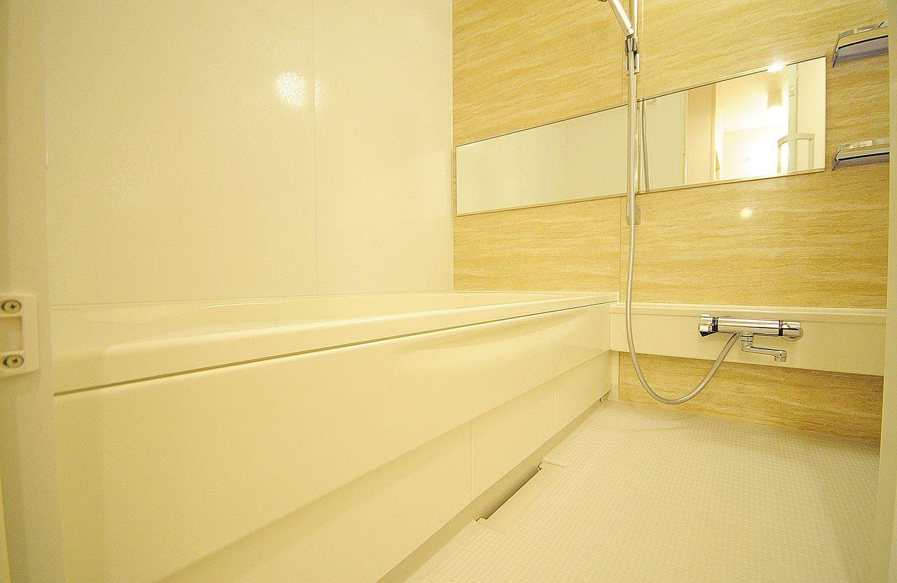 足を伸ばしてのんびり入浴ができます。一日頑張って働いた身体をここで癒やしてください。