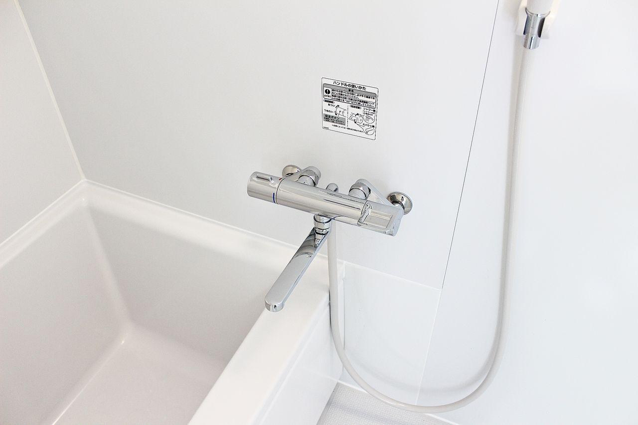 温度調節が楽な水栓です。節水にも役立ちます。