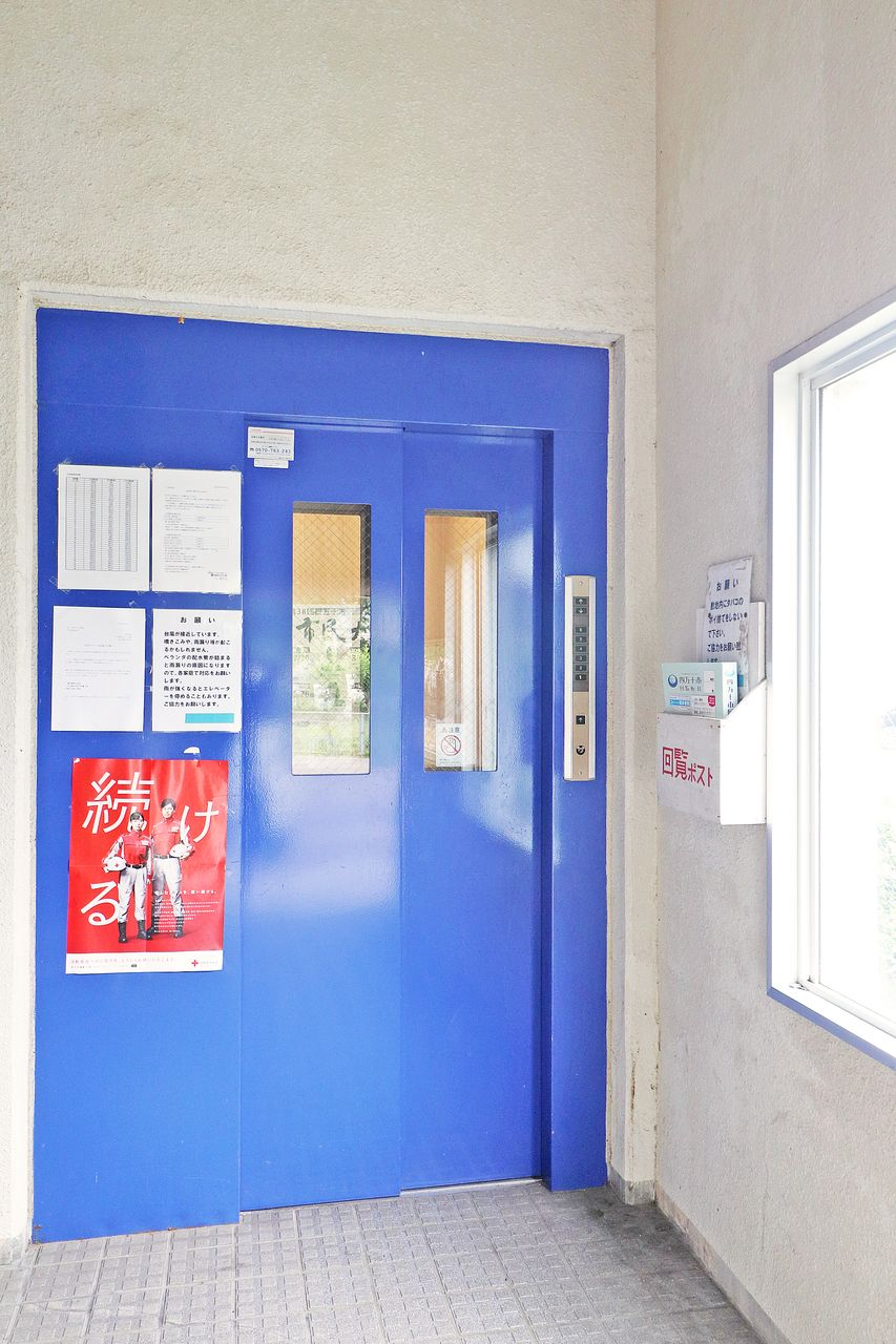 6階のお部屋の為、必須設備ですよね(^^)ちゃんとエレベーターもついています。