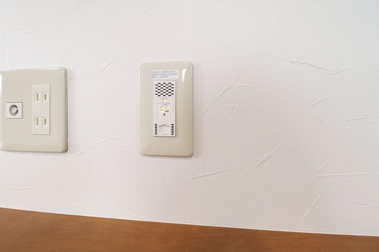 なくてはならない設備のひとつ、Wi-Fiも無料です。これで通信制限も怖くない!