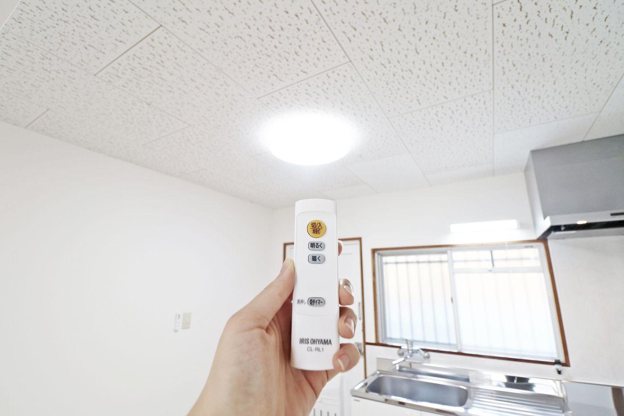 LED照明設置済みです。蛍光管に比べ、耐用年数が長く、交換の手間が少ないのがうれしいですね。