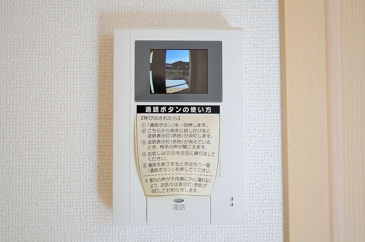DKから来訪者の確認ができます。わざわざ入口までという手間を省ける優れもの。