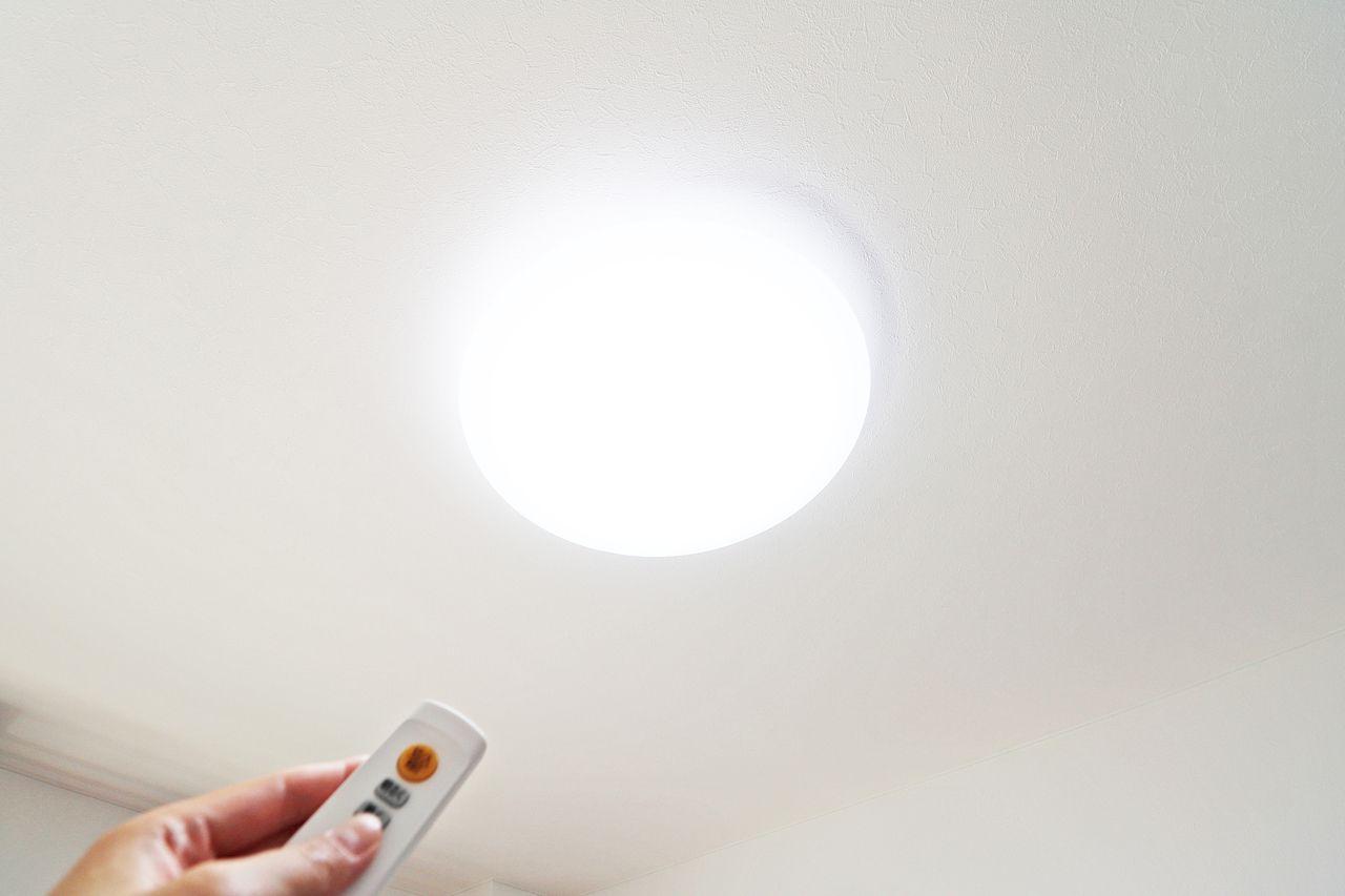 洋室・玄関・トイレ・浴室の照明はLEDです。耐用年数に優れており、スイッチを入れるとパッと照らしてくれます。