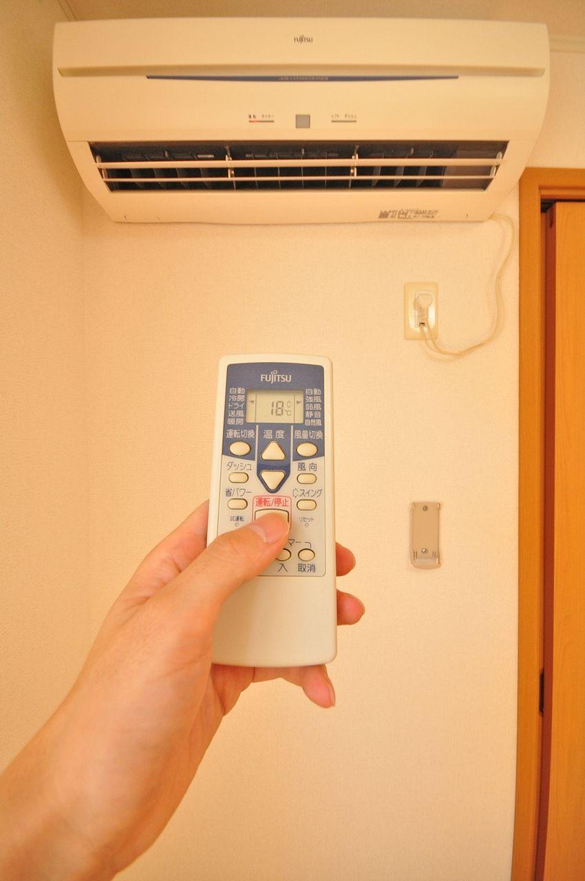 LDKと南東側6畳の洋室にエアコンが設置されています。お引越し費用の節約にもなりますね♪