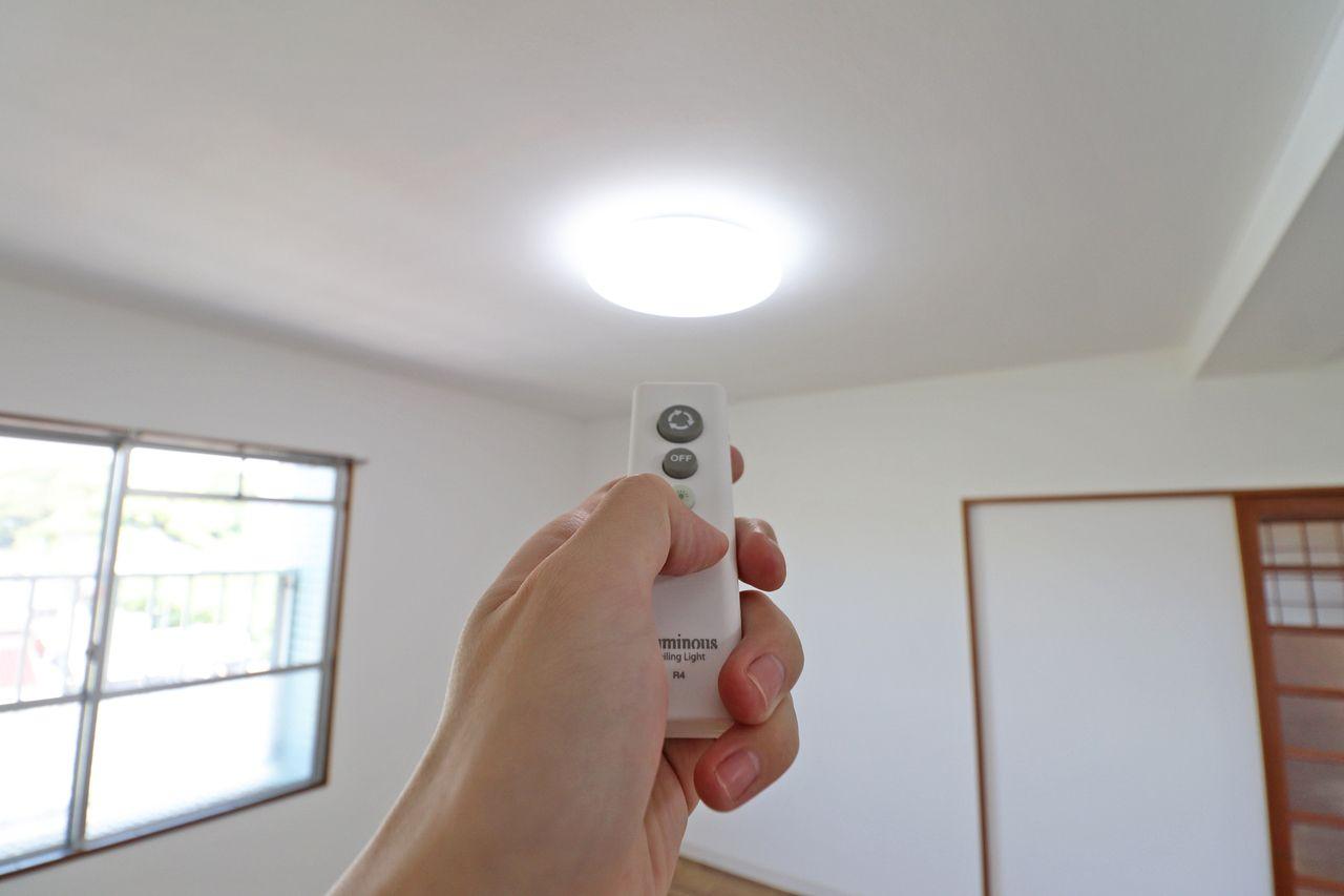 全室LED照明を備え付け。蛍光灯に比べて耐用年数・消費電力ともに優れています。