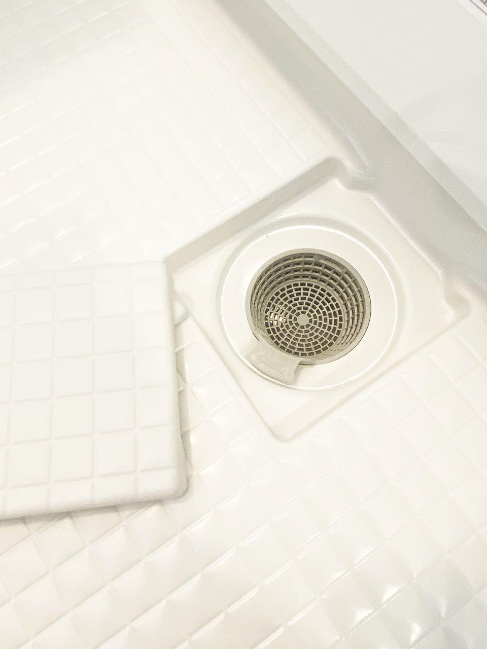 浴槽排水を利用した強いうずが、汚れを流します。