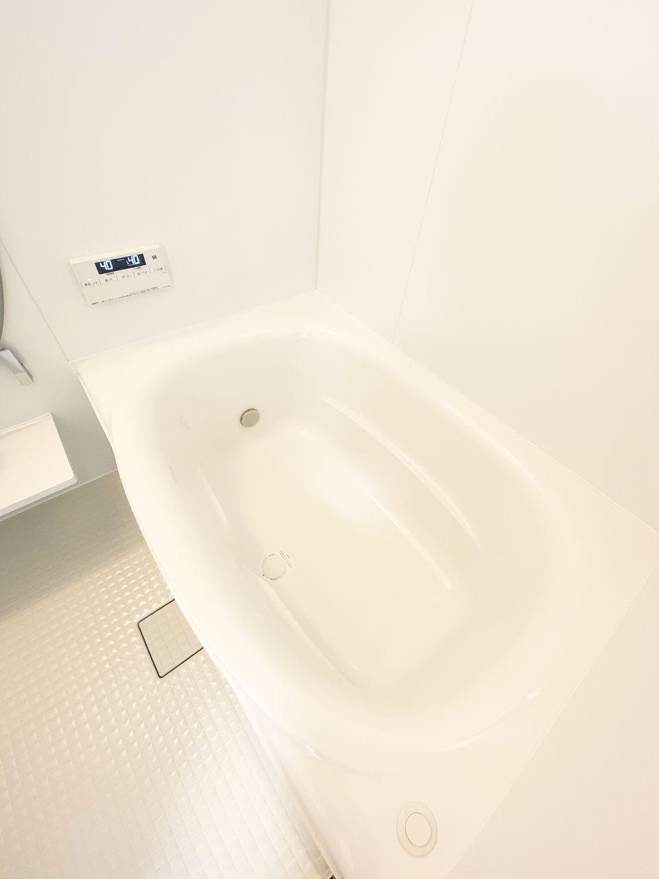 浴槽の上縁を極限まで広げて、湯面の広がりと入浴時の解放感が感じられ、角の少ないやわらかな曲線で快適な入浴姿勢ができる浴槽です。
