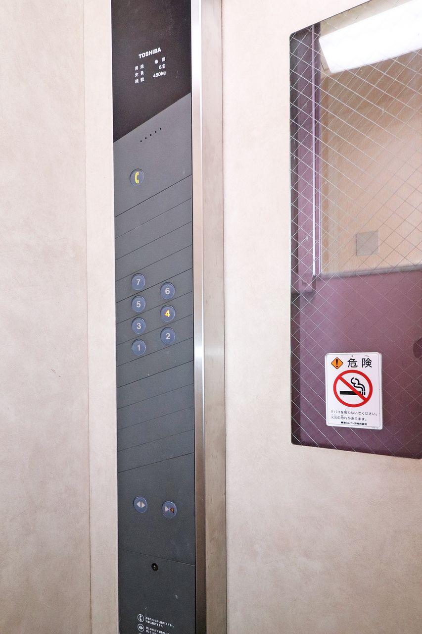 募集中のお部屋は4階。エレベーターで楽々♪重い荷物があっても安心ですね。