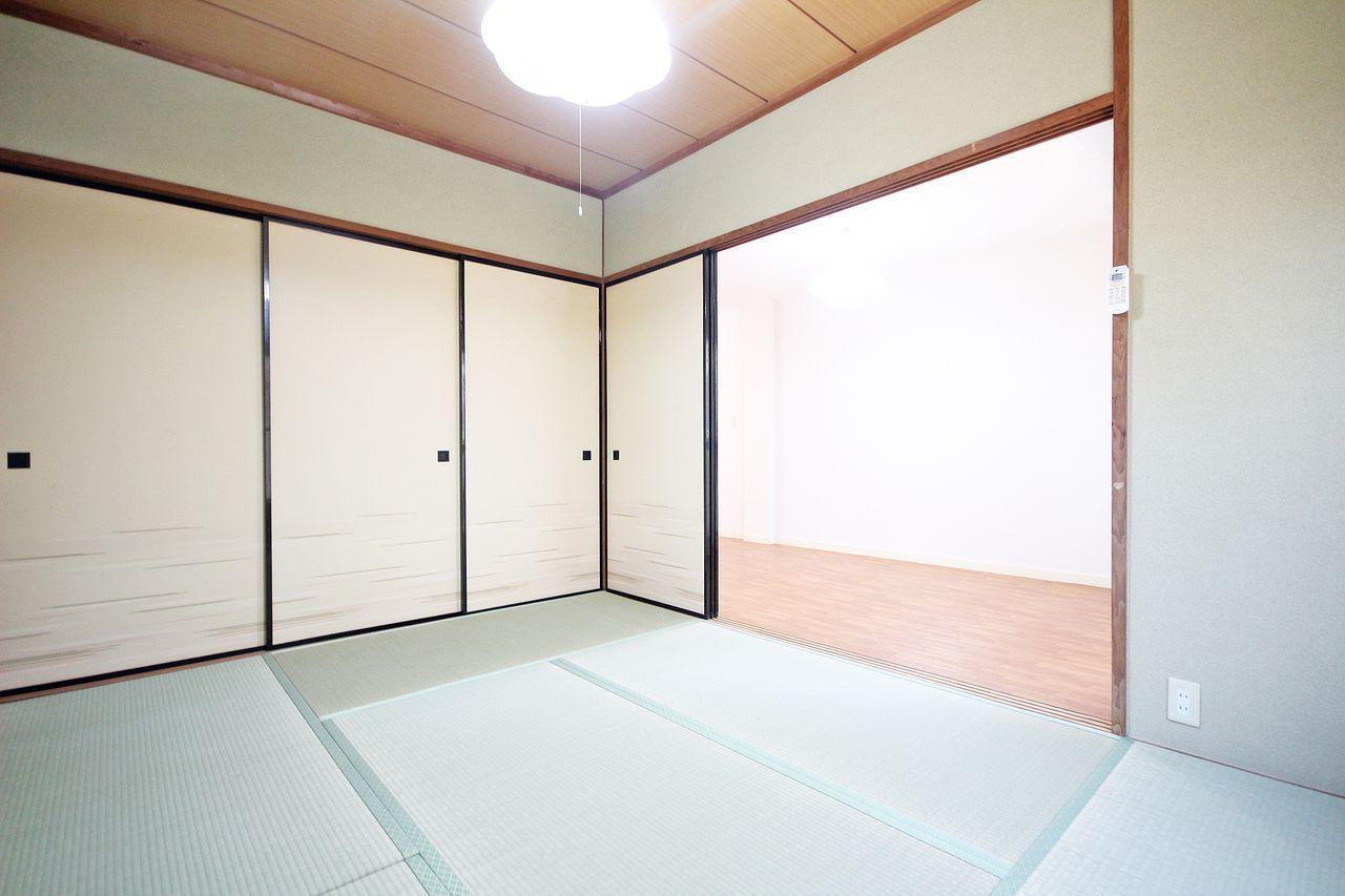 洋室ばかりの賃貸物件が増えてきましたが、日本人の心を忘れない和室があるのもいいですね。