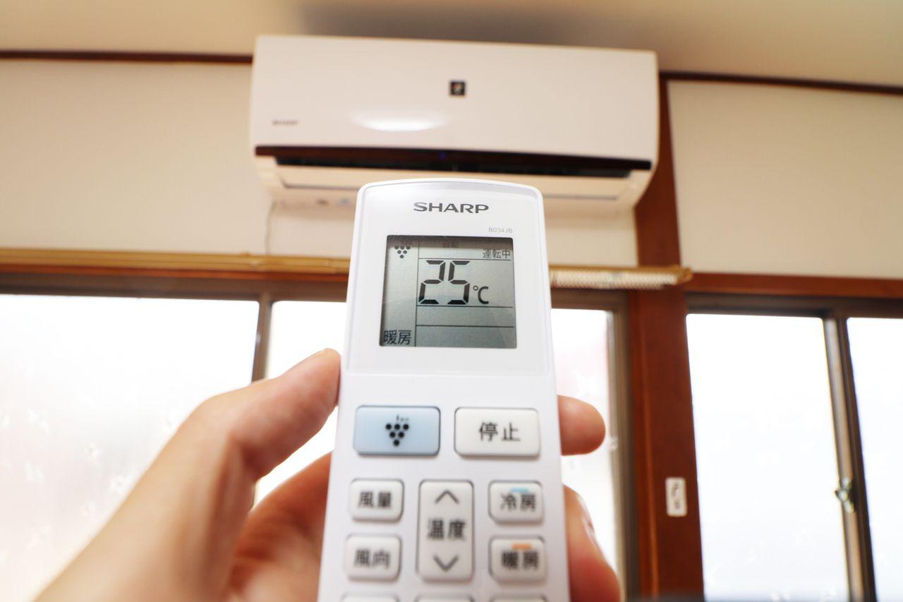 エアコンが一台備わっています。寒い日、暑い日、活躍することでしょう。