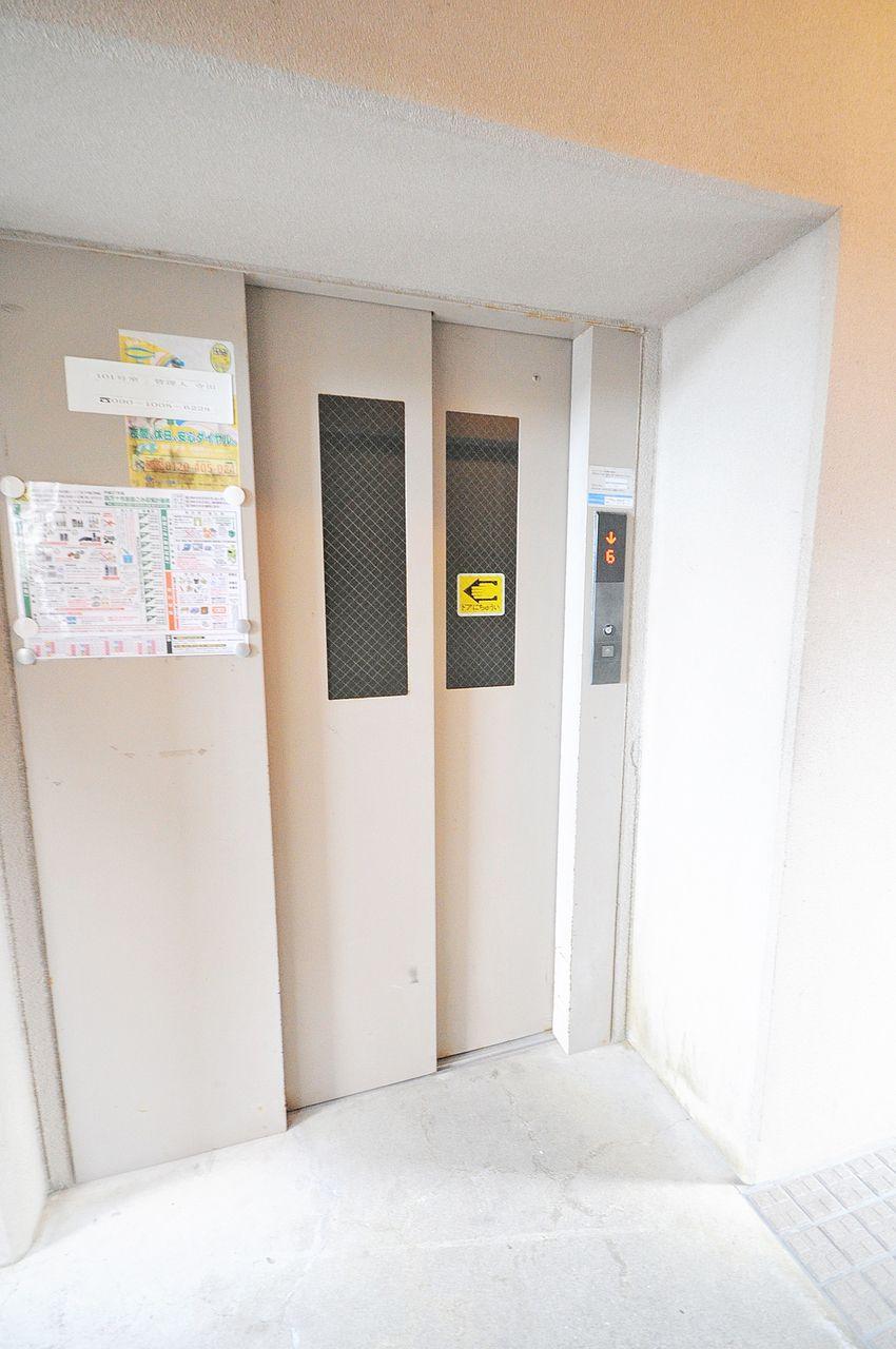 2階なら階段でものぼれますが、重たいお荷物があっても助かるエレベータもついています♪
