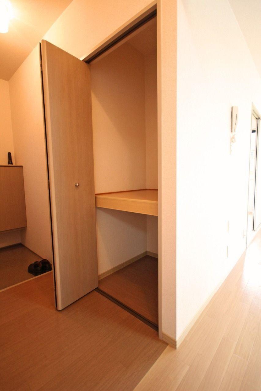 玄関にこんなに収納いる?ってほどの大容量。これで下駄箱が別にあるというんだから驚きです。