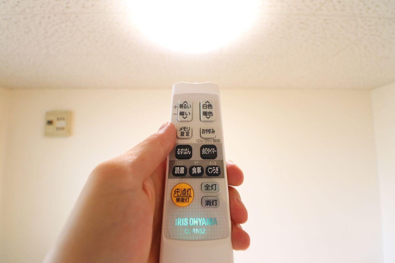全居室にLED照明。耐用年数に優れていて交換頻度が少なくてすみます。消費電力も抑えられる優れもの。