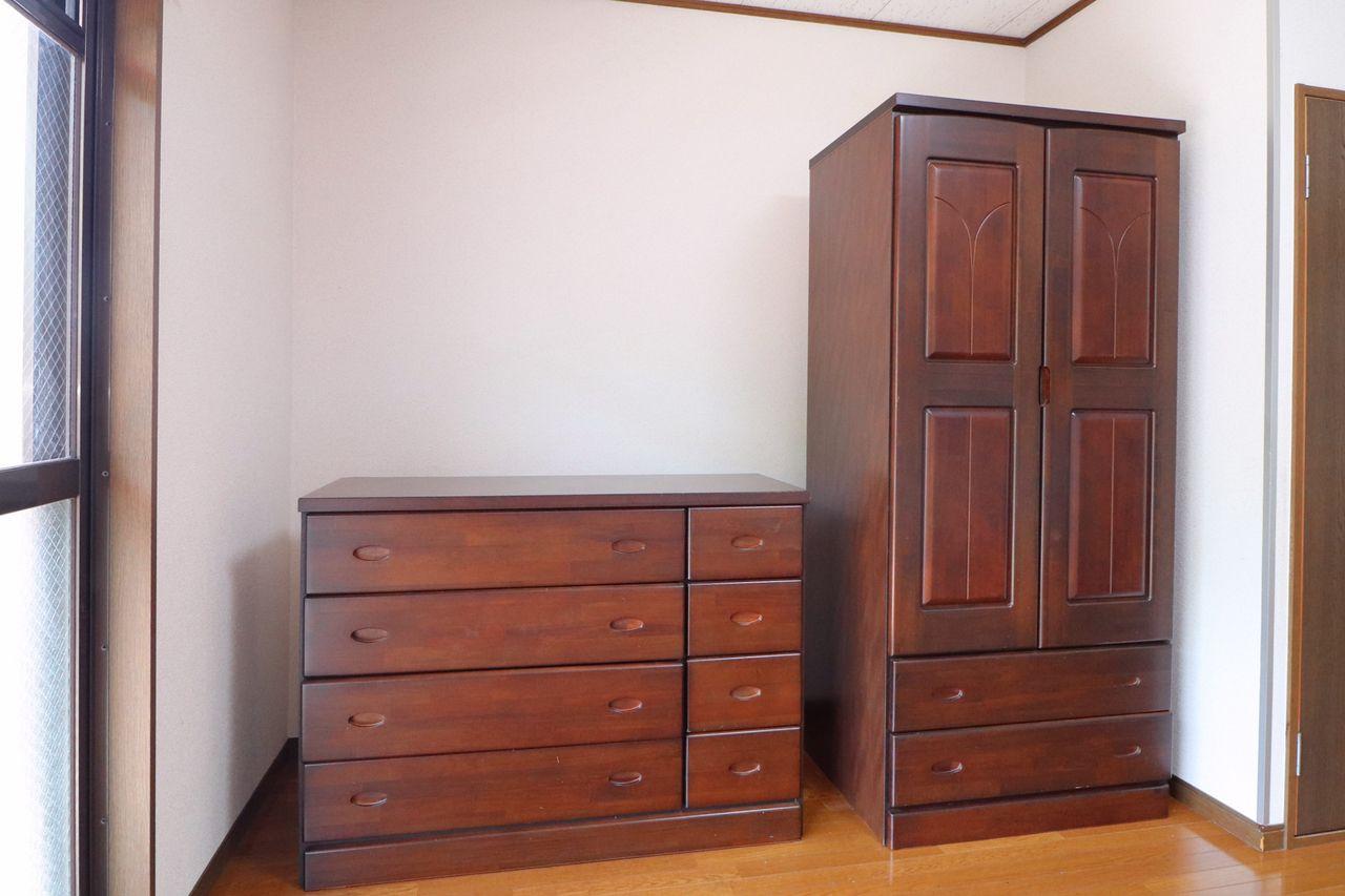 各種収納が新居での暮らしをサポート。引っ越しで揃える家具が減るのは嬉しいですよね。