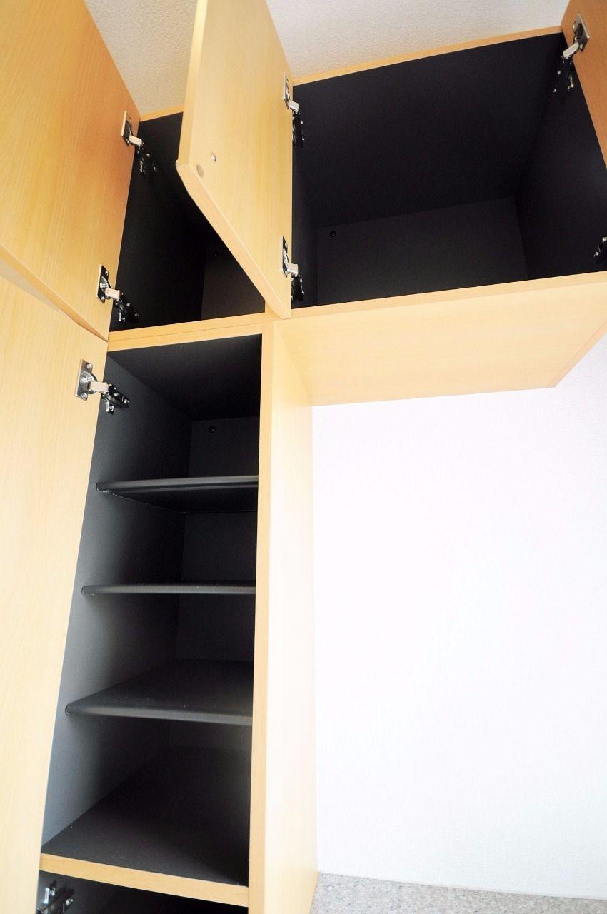 玄関には大容量のシューズボックスがあります。靴をたくさんお持ちの方も安心です。