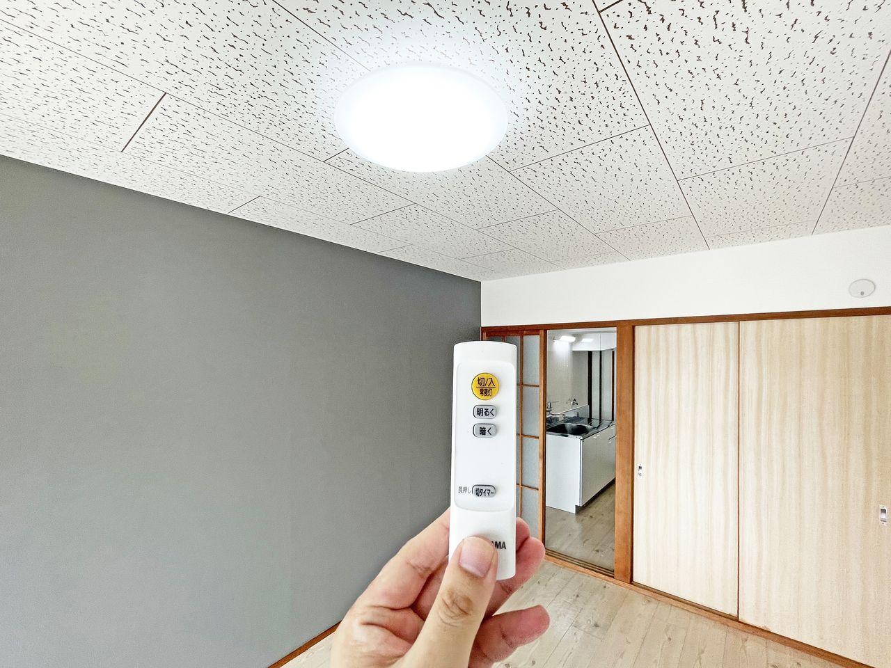 照明のONとOFFや明るさの微調整ができます。くつろぎスペースにあると嬉しい設備です。