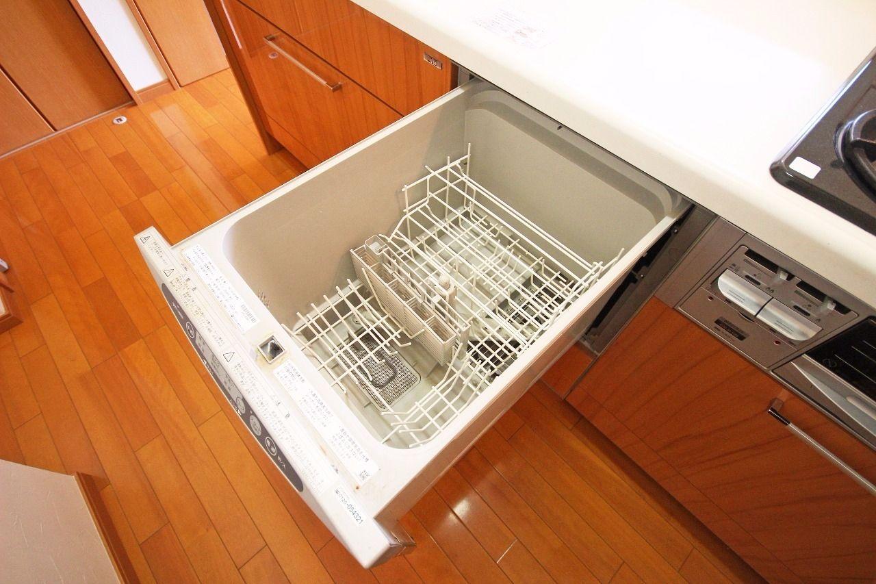 キッチンはカウンターシステムキッチンでビルトイン食洗機が装備されています。