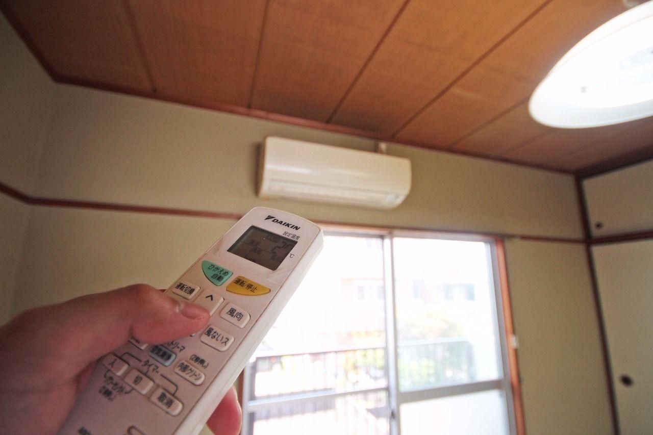 各部屋エアコンが設置されています。引越し時に余計な出費が要りませんよ!