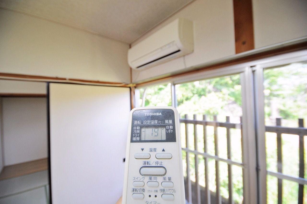 LDKにエアコン付き!夏場でも快適に過ごすことができます。