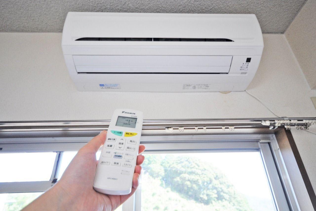 設備でエアコンも付いているので、室内の空調管理もしっかり行えます。