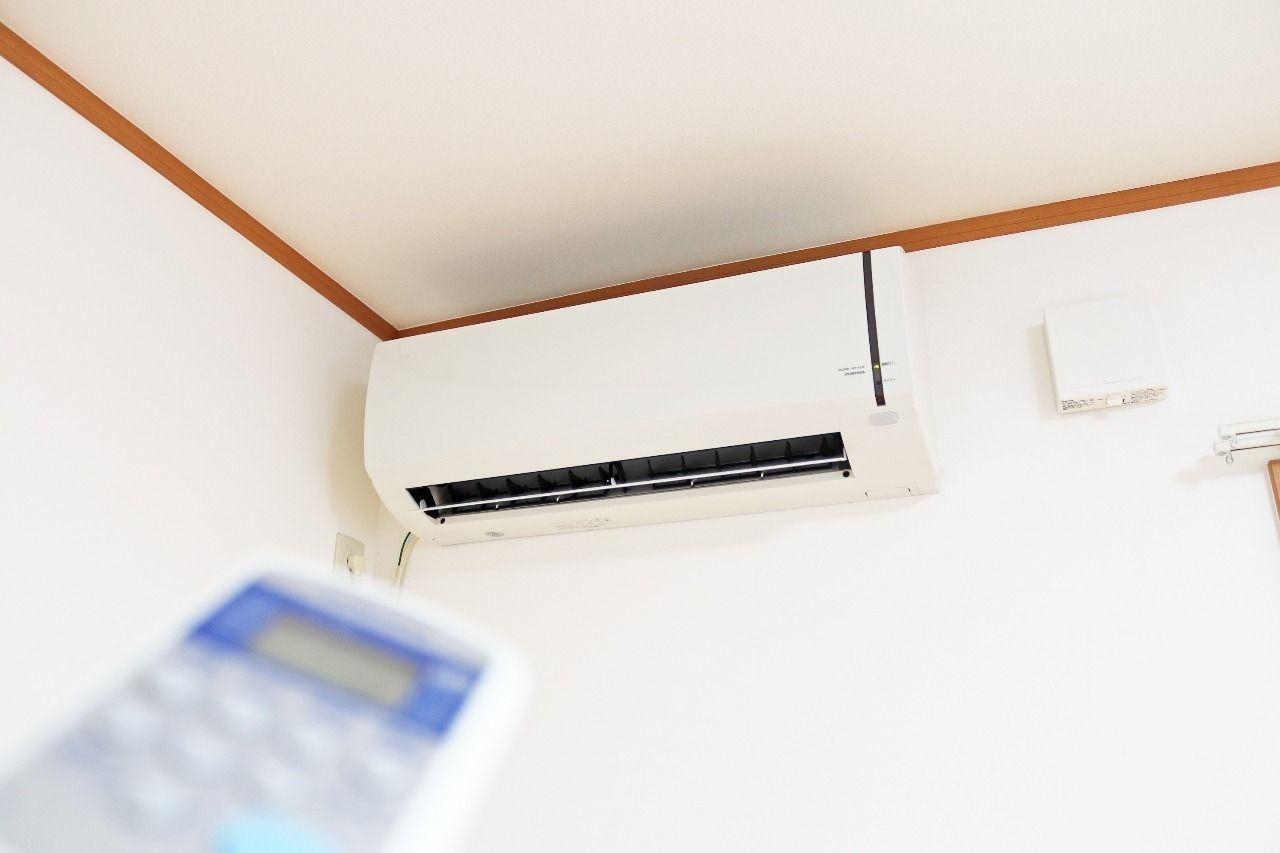 LDKと2階の洋室すべてにエアコンが付いています。新たに購入の必要がなく、全室ばっちり空調管理ができます。