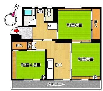 ビレッジハウス佐岡1号棟 賃貸物件 四万十市の不動産 ヤマモト地所 間取り