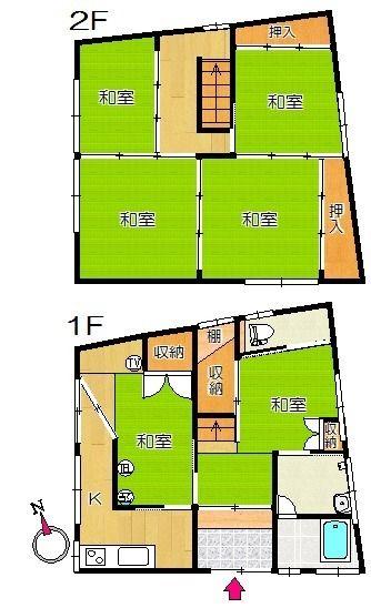 ライムハウス|賃貸物件|四万十市の不動産|ヤマモト地所 間取り