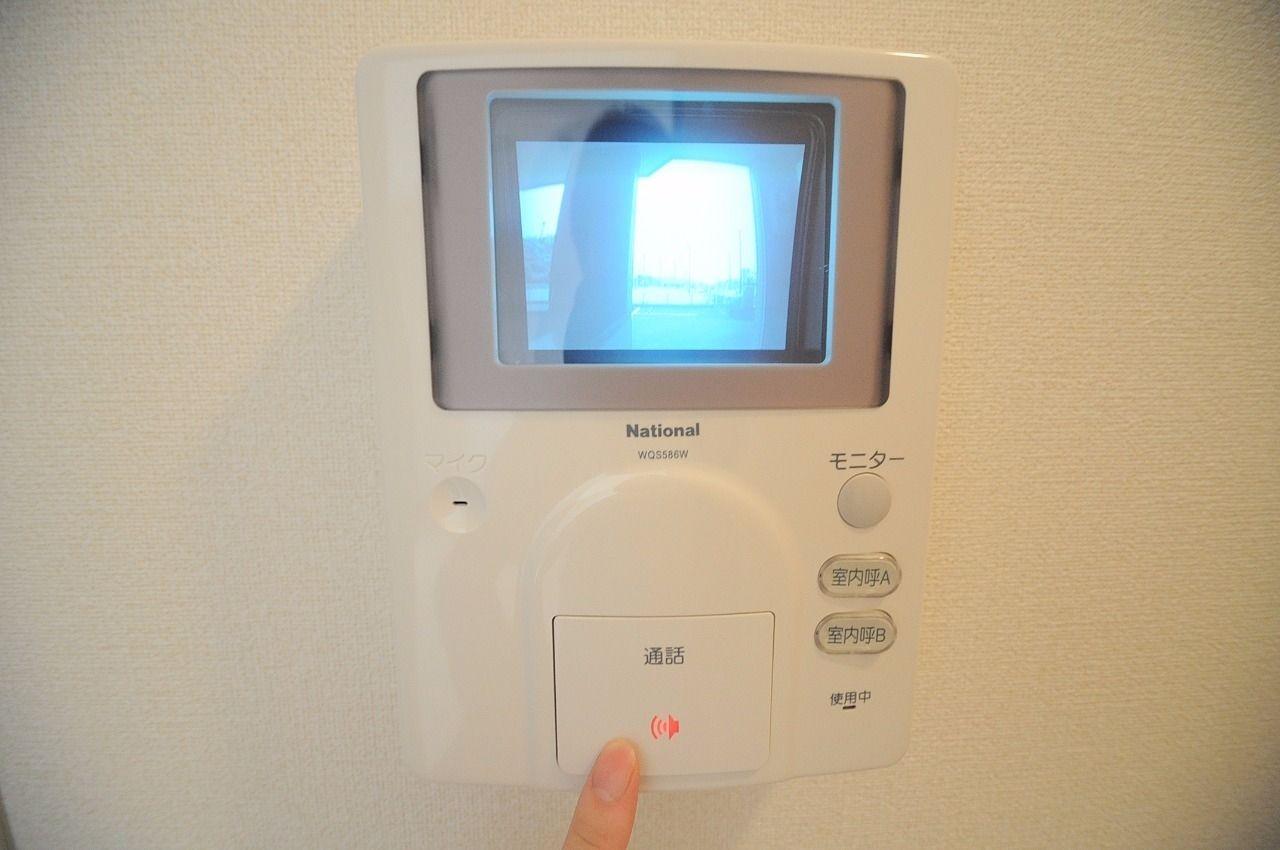 来訪者を画像で確認できる優秀な設備。防犯面で役立ちます!人気の設備の一つです。
