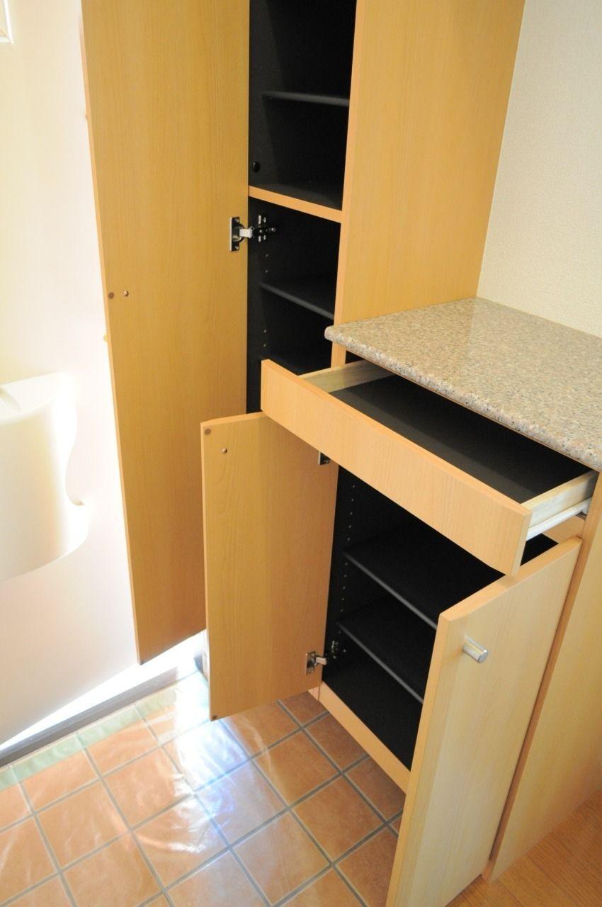 大容量のシューズボックスです。この設備のおかげで玄関もキレイスッキリに!
