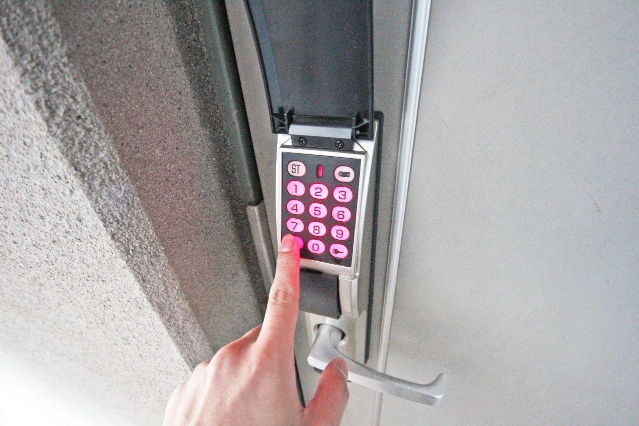 鍵はありません。が、セキュリティーはばっちりです!
