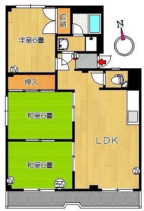 松本コーポ 302 賃貸物件 四万十市の不動産 ヤマモト地所 間取り