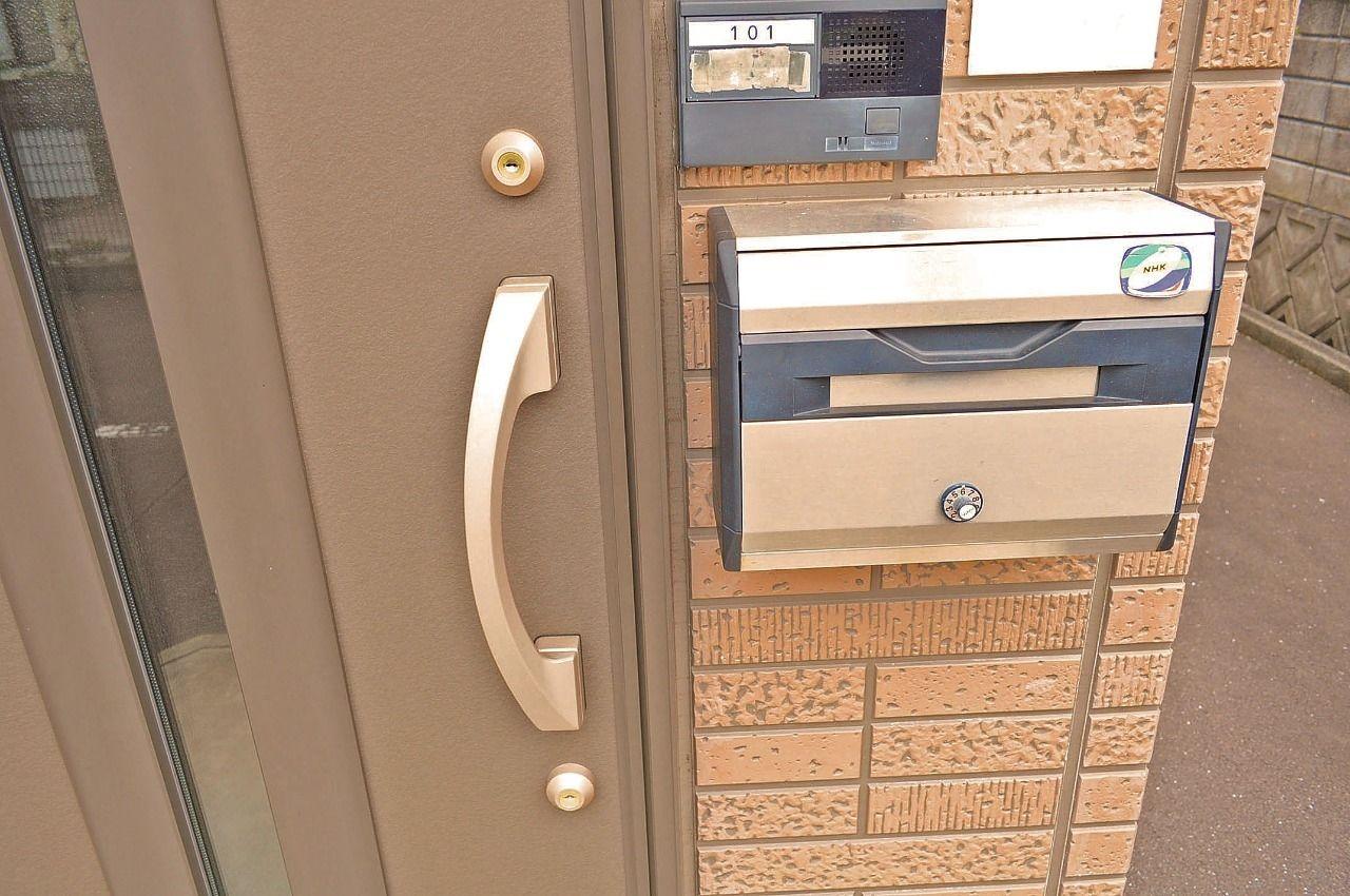 郵便物の中身を盗難される心配がありません。パスワードを忘れないように気をつけてくださいね。