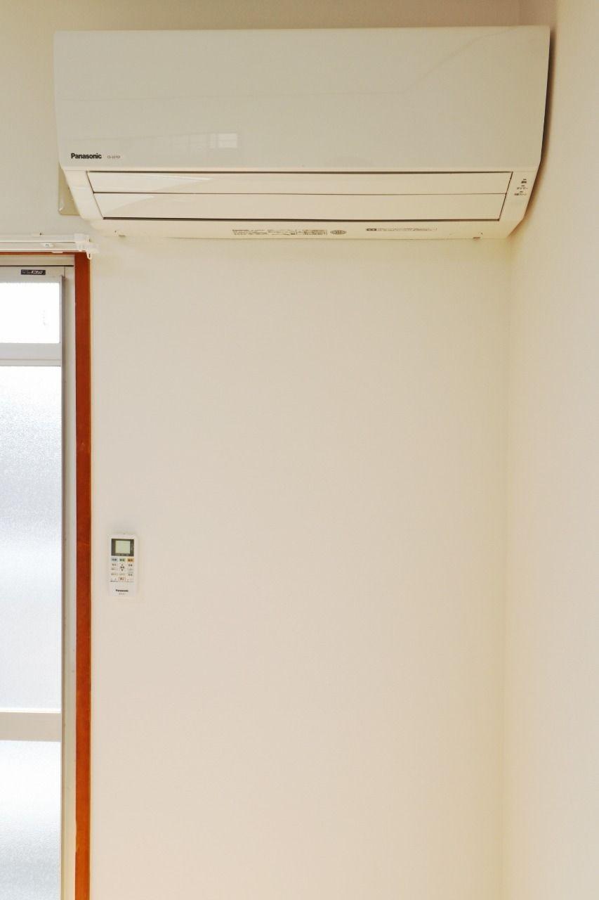 設備としてエアコンが1台付いています。電化製品は新しいものほど電気代がかからないので、新しいエアコンが付いているのはかなりのプラスポイントです!