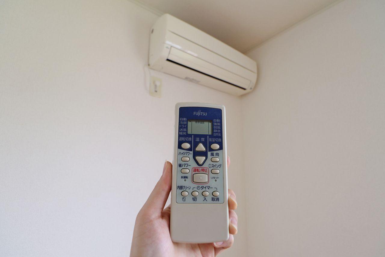 LDKと北側洋室には設備としてエアコンが2台付いております。入居に合わせて買わなくちゃいけないものが減るのは嬉しいですよね♪