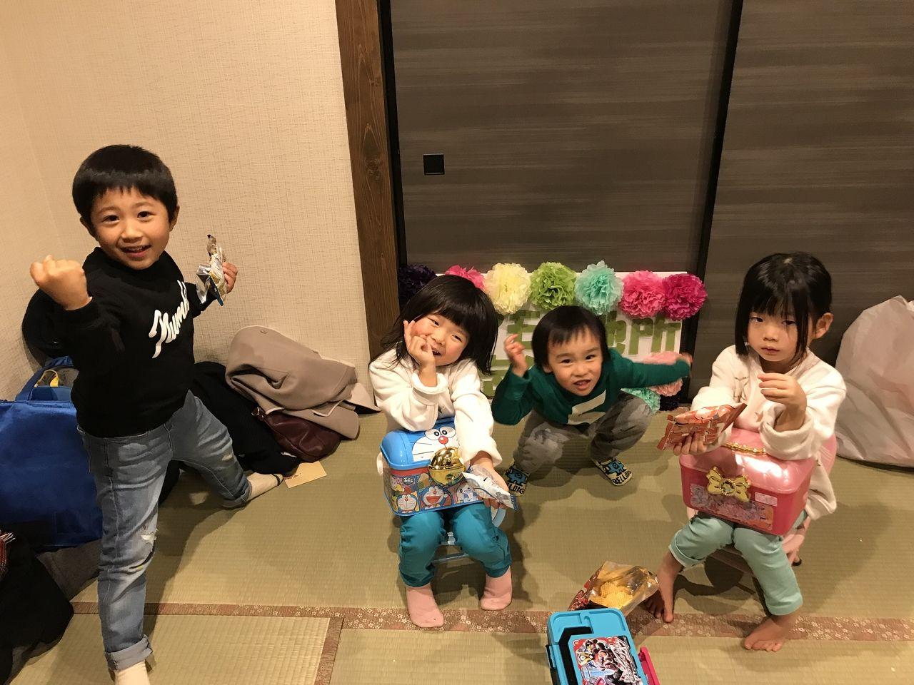 スタッフの子ども達も集まって、にぎやかでした。