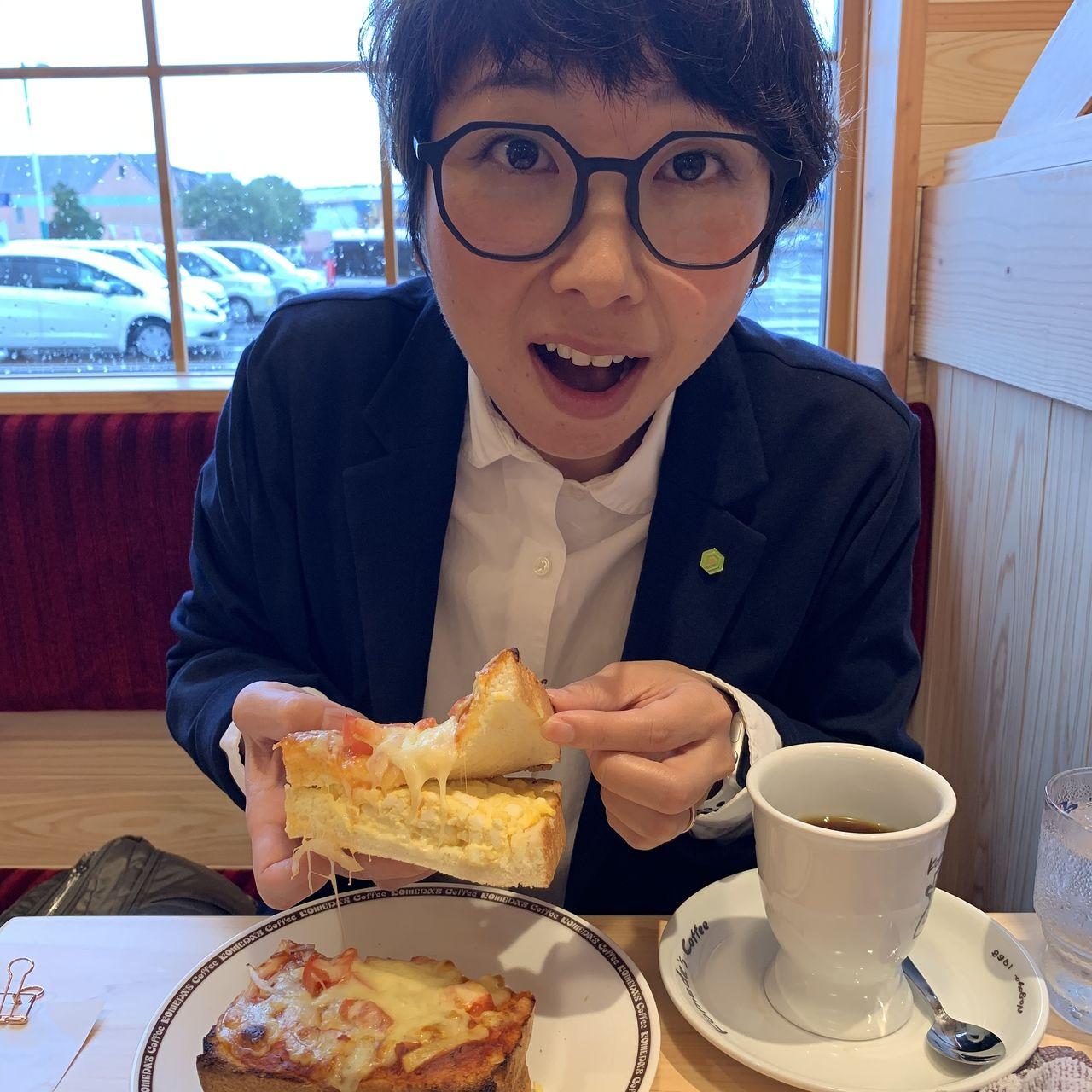 四万十市 コメダ珈琲店 ピザトースト ランチ