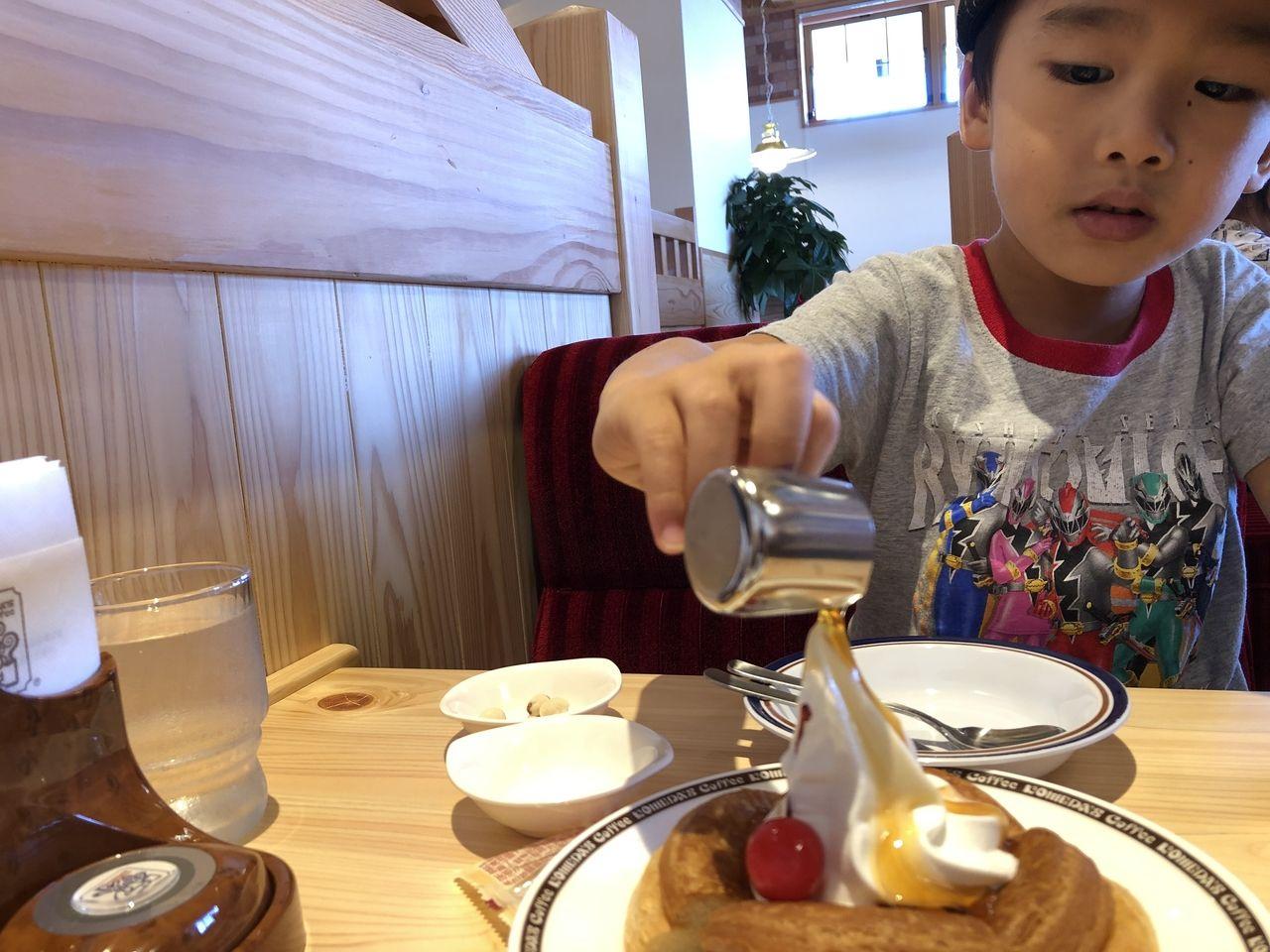 四万十市 コメダ珈琲店 シロノワール デザートセット