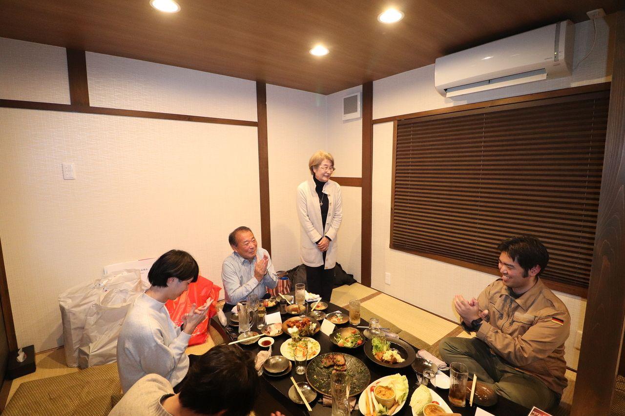 ヤマモト地所のお母さん、事務長からも一言いただきました。