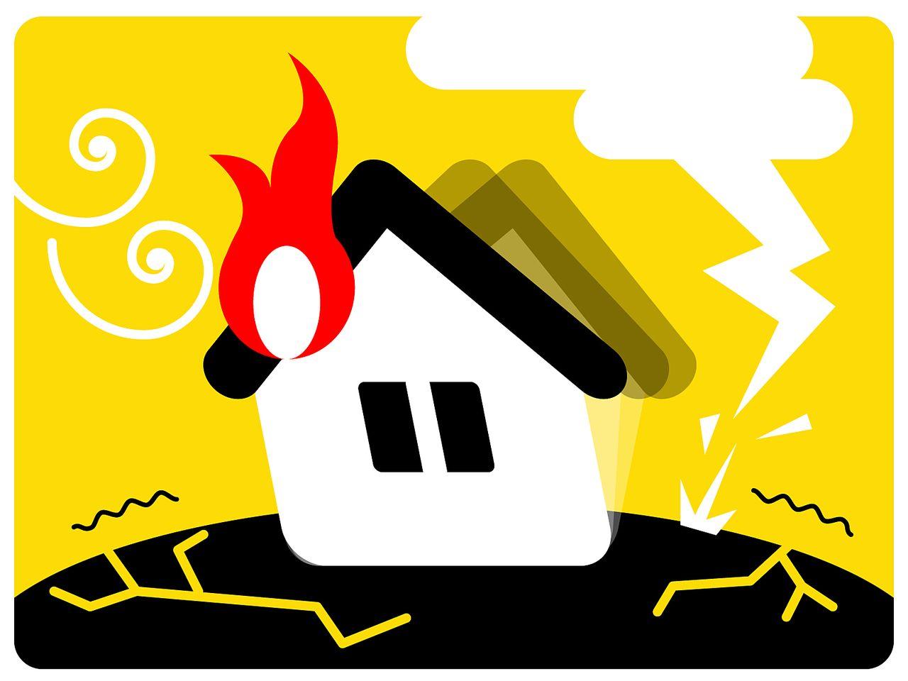 地震が原因の火災