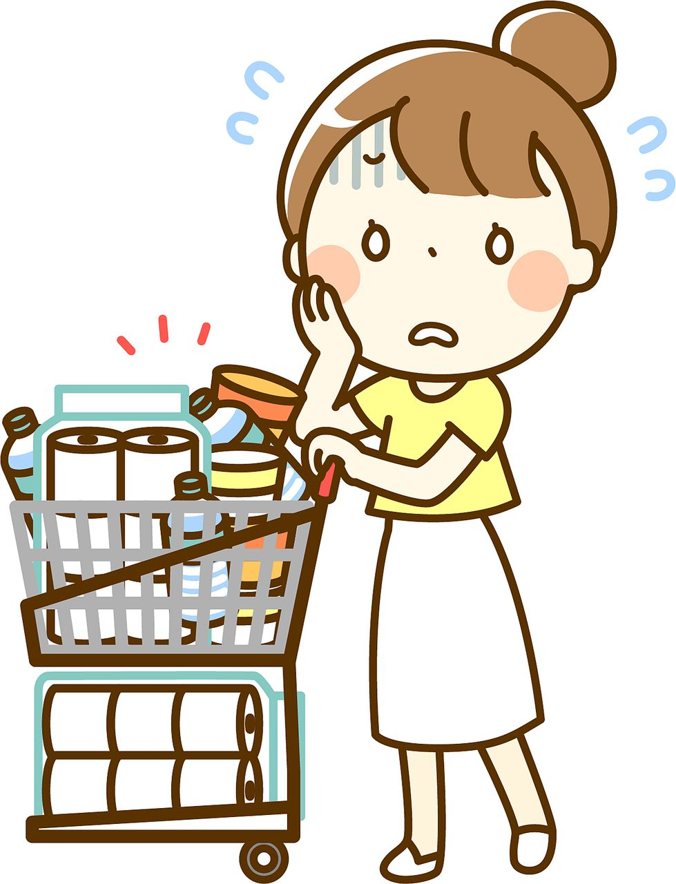 お買い物をしている画像です