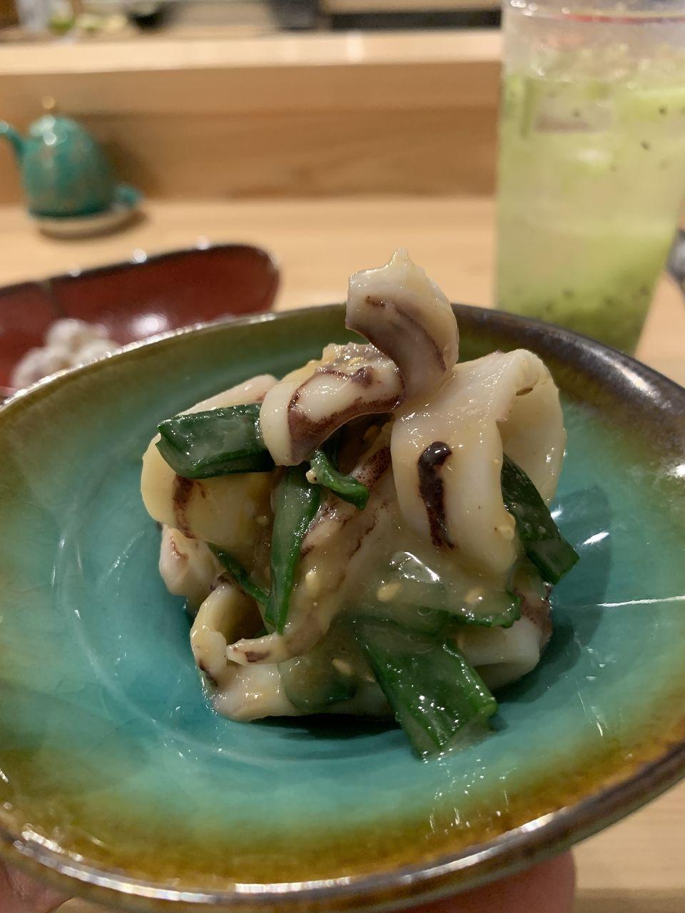 コの字サカバmihokiの剣先イカからし酢味噌和え